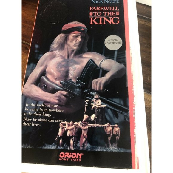 Farewell To The King Nick Nolte VHS Tape